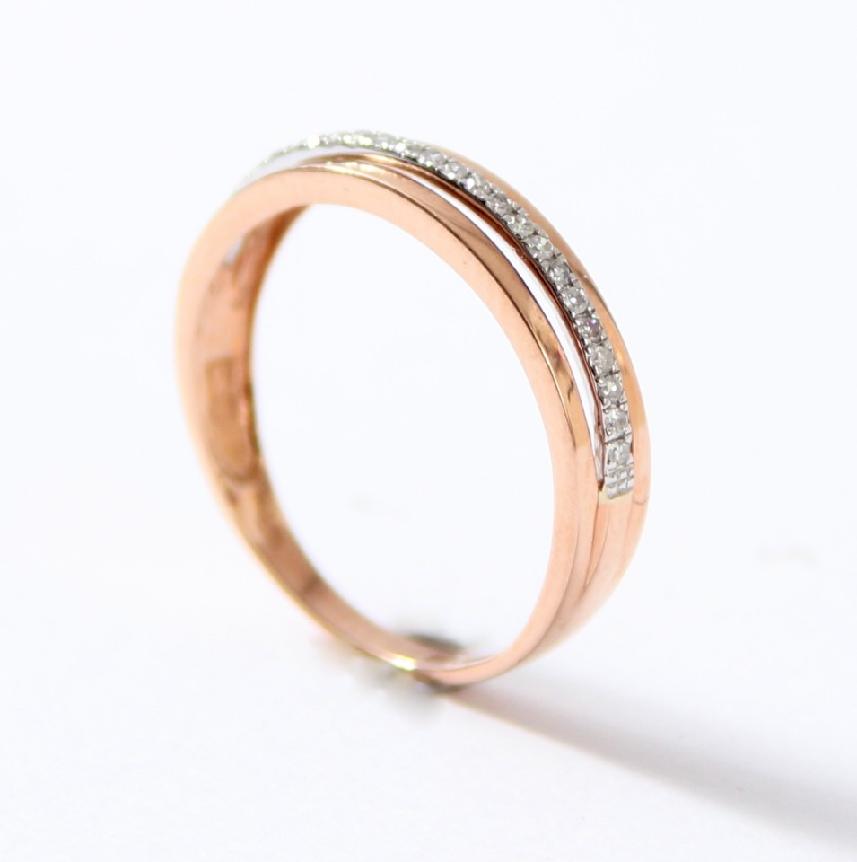 Trendy Rosegouden ring met Briljant