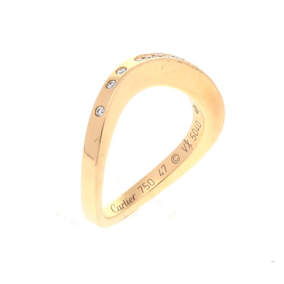 18 krt. Cartier Briljant ring, boutique collectie.