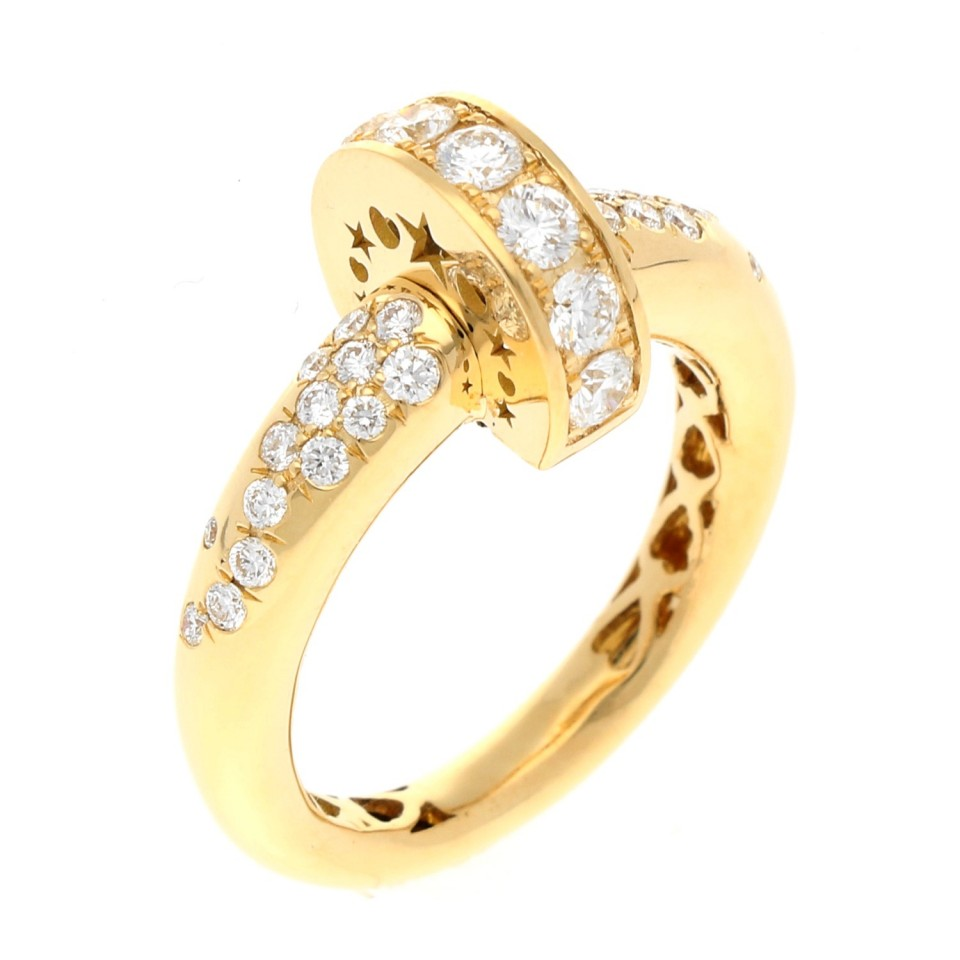 High Fashion design ring met briljant 0.80 Ct