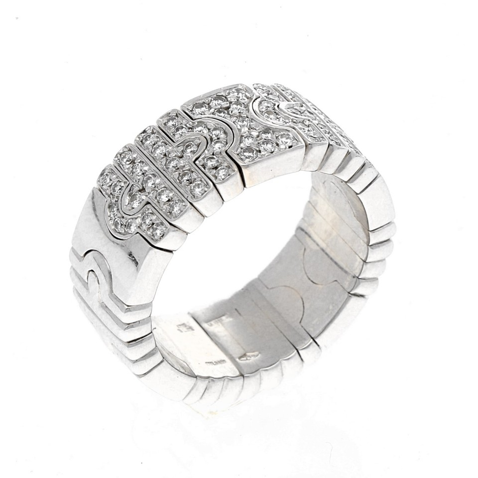18Krt. Bulgari briljant ring. Model Parentesi