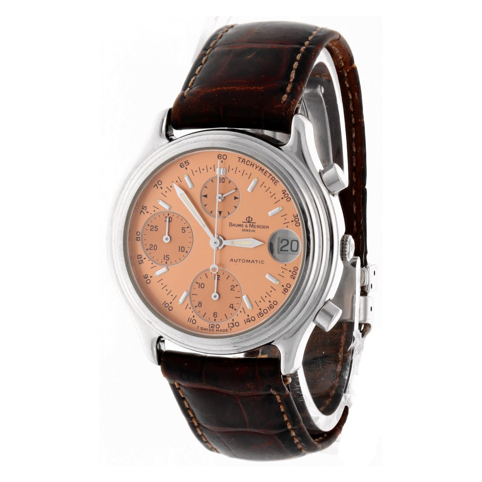 Baume & Mercier Baumatic Bronze wijzerplaat.
