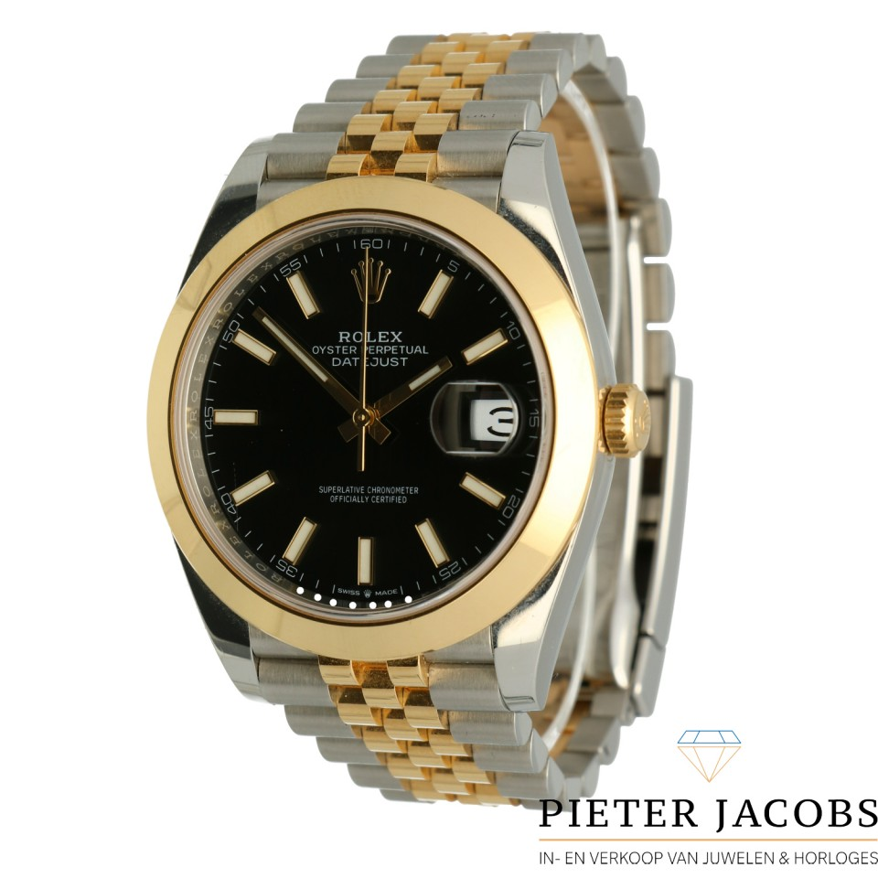 Rolex Datejust 41 Gold/Steel Black Dial