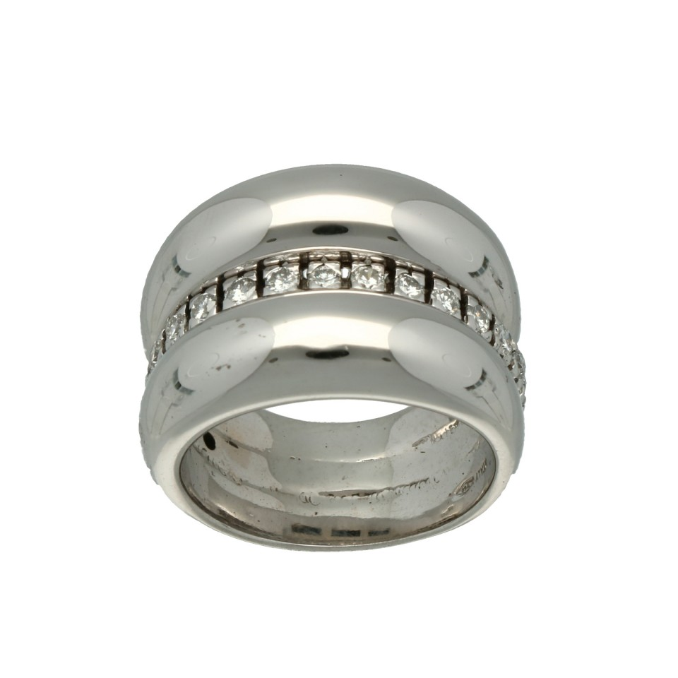 Massief Witgouden Briljant ring 0.50 Ct
