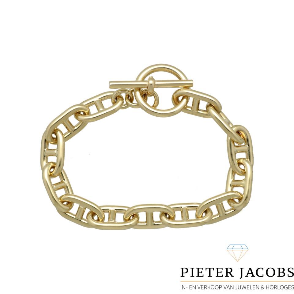 14Krt. gouden schakelarmband ''Hermes'' stijl