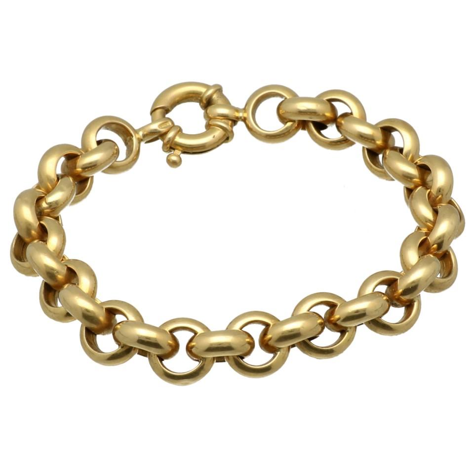 18 Krt massief gouden jasseron armband.