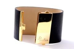 Pomellato Armband met 18 krt. Goud/Leer