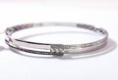 14 krt moderne Witgouden Briljant armband 0.47 Ct