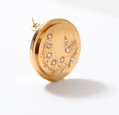 14 krt Diamanten broche ca. 1900