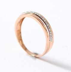 Trendy Rosegouden ring met Briljant