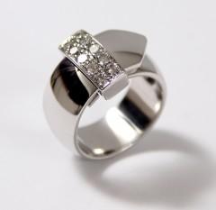 Witgouden Briljant ring 0.50 Ct. met afneembare briljant gesp.