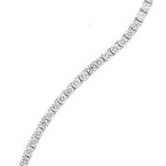 18 Krt. Witgouden Tennisarmband 49 x 0,16 ct. briljant