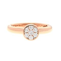 18 Krt. rosé gouden briljant ring 0.38 Ct.