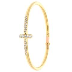 Stijlvolle 18 krt gouden briljanten armband 1.17 Ct