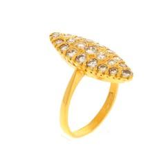 22 Krt. gouden ring gezet met Briljant ca. 1.00Ct.