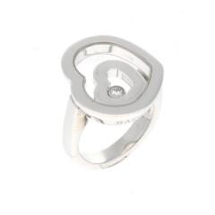 18 Krt. Witgouden Chopard Happy Spirit ring
