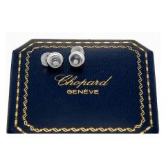Chopard Happy Diamonds oorbellen 18Krt. witgoud 0.11 Ct.
