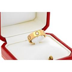 Cartier Love ring met 3 Brillanten.