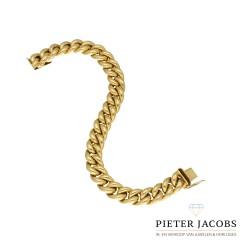 14 Krt. Geelgouden Gourmet armband