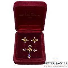 18 krt gouden set naar orgineel werk van Carl Fabergé