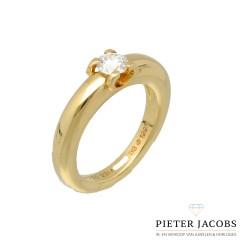 Cartier ring met Briljant 0.40 Ct