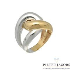 14krt. gouden Bi-color schakel ring