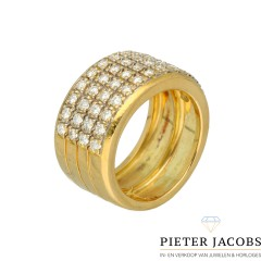 18 krt gouden Briljant ring 1.04 Ct. F/VS