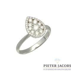 18 krt. Briljant ring in peervorm 0.76 Ct