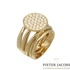 18 Krt.  Briljant ring 0.84 Ct van € 5185,- voor € 2845,-