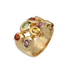 18 krt gouden cocktail-ring. Designer