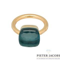 18 Krt ring Pomellato Nudo grande London topaas. Nieuw € 3650,-