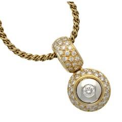 14 Krt collier met luxe briljant hanger 0.87 ct