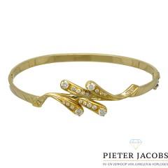 Vintage gouden armband bezet met Briljant ca. 0.60 Ct