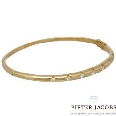 18 krt gouden armband met 7 Briljanten ca. 0.55 Ct