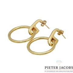 14Krt. gouden fantasie oorbellen
