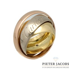 CARTIER 18K TRI-COLOR GOLD TRINITY MUST ESSENCE RING 2003 LIMITED EDITION