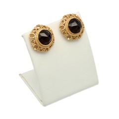 14 Krt. Gouden oorstekers met Granaat