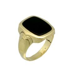 14 krt gouden Vintage Onyx ring
