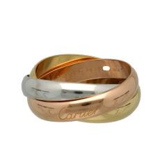 18 Krt Cartier trinity ring, zware uitvoering maat 22 1/2