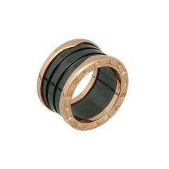 18 Krt. Ring Bulgari B.Zero1 Rosé Goud/Ceramic