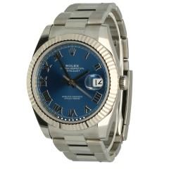 Rolex Datejust 41 Blue/Roman Index Ref.126334
