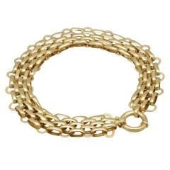 14 krt gouden schakel fantasie armband