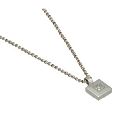 Witgouden Chopard Happy Diamonds collier 0.05 Ct