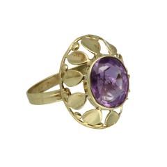 Vintage gouden ring met Amethist