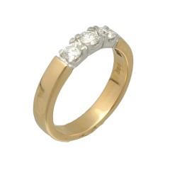 14 Krt. Gouden Alliance ring 0.45ct Briljant