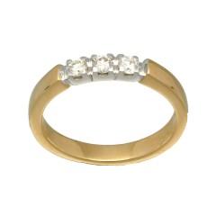 14 Krt. Gouden Alliance ring 0.30ct Briljant