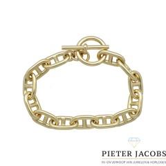 14Krt. gouden schakelarmband