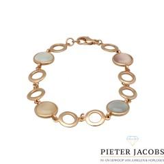 14Krt. rosegouden armband met Maansteen