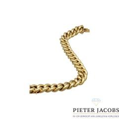 14Krt. gouden Bolle Gourmet schakelarmband