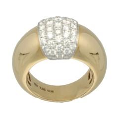 18 Krt gouden Briljant ring 1.35 Ct