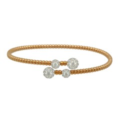 18 Krt Rosé gouden armband met Briljant 0.90 Ct